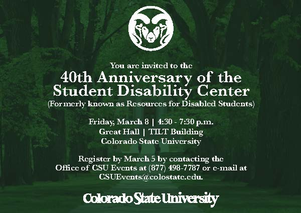Invitation to the 40th anniversary. See body text for details